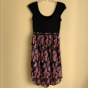Chiffon Floral/Plain Women's Medium Dress
